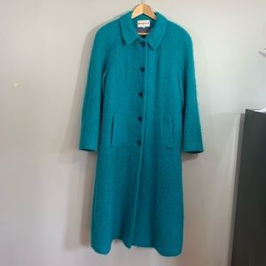 Vintage Appleseed's Teal Fuzzy Coat